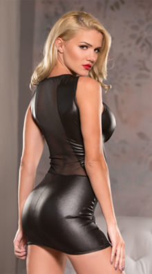 Photo of Curved Wet Look Dress @EX4.NL Exclusive Lingerie