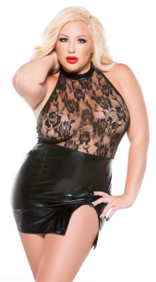 Photo of Plus Size Rose or Thorn Chemise @EX4.NL Exclusive Lingerie