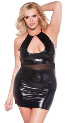 Photo of Plus Size Crop Top Dress with Sheer Mesh Waistband @EX4.NL Exclusive Lingerie