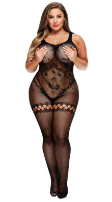 Photo of Plus Size Intricate Fishnet Bodystocking @EX4.NL Exclusive Lingerie