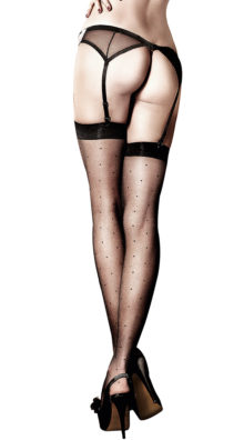 Photo of Black Sheer Dot Thigh Highs @EX4.NL Exclusive Lingerie