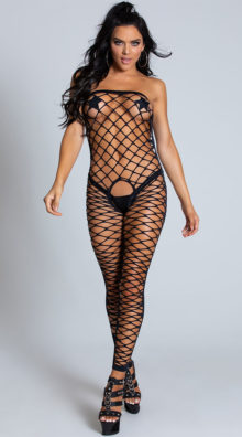 Photo of Fence Net Crotchless Bodystocking @EX4.NL Exclusive Lingerie