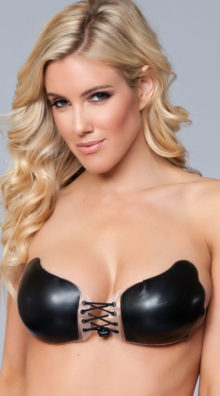 Photo of Silicone Adhesive Lace-Up Bra @EX4.NL Exclusive Lingerie