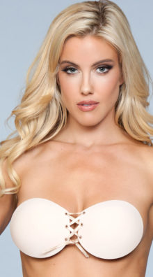 Photo of Lace-Up Backless Adhesive Bra @EX4.NL Exclusive Lingerie