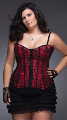 Photo of Plus Size Lace and Satin Corset @EX4.NL Exclusive Lingerie
