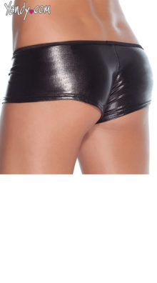 Photo of Plus Size Wet Look Booty Shorts @EX4.NL Exclusive Lingerie