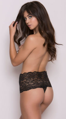 Photo of Slimming High Waist Lacy Thong @EX4.NL Exclusive Lingerie