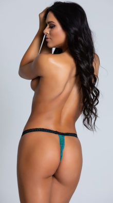 Photo of Totally Turquoise G-String @EX4.NL Exclusive Lingerie