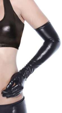 Photo of Shiny Black Gloves @EX4.NL Exclusive Lingerie