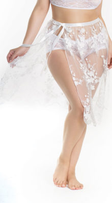 Photo of Plus Size Sheer Sophistication Wrap Skirt @EX4.NL Exclusive Lingerie