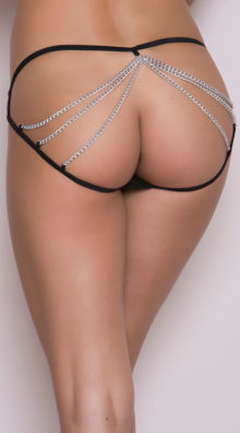 Photo of Wet Look Chain Cage Panty @EX4.NL Exclusive Lingerie