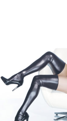 Photo of Sexy Black Metallic Thigh Highs @EX4.NL Exclusive Lingerie