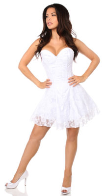 Photo of Lavish White Lace Corset Dress @EX4.NL Exclusive Lingerie