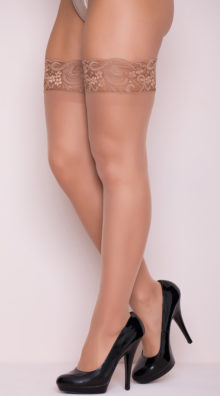 Photo of Sheer Thigh High with Stay up Silicone Lace Top @EX4.NL Exclusive Lingerie