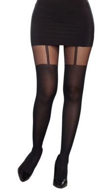 Photo of Opaque Thigh High Silhouette Pantyhose @EX4.NL Exclusive Lingerie