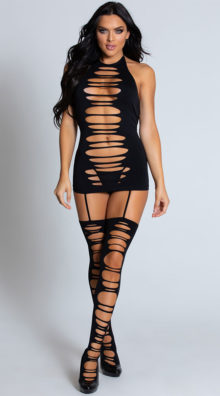 Photo of Ripped Garter Dress @EX4.NL Exclusive Lingerie