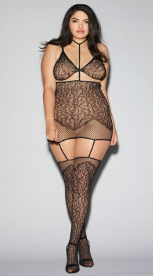 Photo of Plus Size Convertible Harness Bodystocking @EX4.NL Exclusive Lingerie