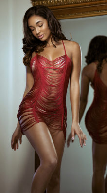 Photo of Fringed Beauty Chemise Set @EX4.NL Exclusive Lingerie