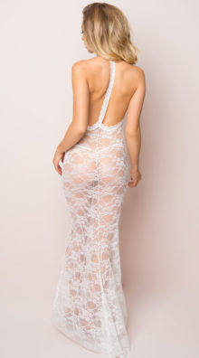 Photo of Long Lace Gown and Panty @EX4.NL Exclusive Lingerie