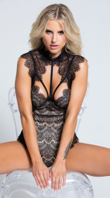 Photo of Stunning Lace Harness Teddy @EX4.NL Exclusive Lingerie