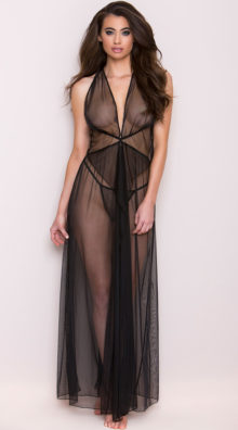 Photo of Knotted Mesh Gown Set @EX4.NL Exclusive Lingerie