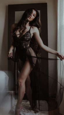 Photo of Mosaic Lace Teddy and Mesh Skirt @EX4.NL Exclusive Lingerie