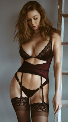 Photo of Ravishing Raspberry Gartered Teddy @EX4.NL Exclusive Lingerie