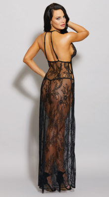 Photo of Eyelash Lace Toga Gown Set @EX4.NL Exclusive Lingerie
