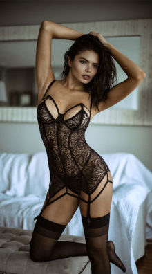 Photo of Caught In Your Web Chemise Set @EX4.NL Exclusive Lingerie