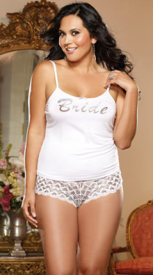 Photo of Plus Size First Kiss Bridal Tank And Panty @EX4.NL Exclusive Lingerie