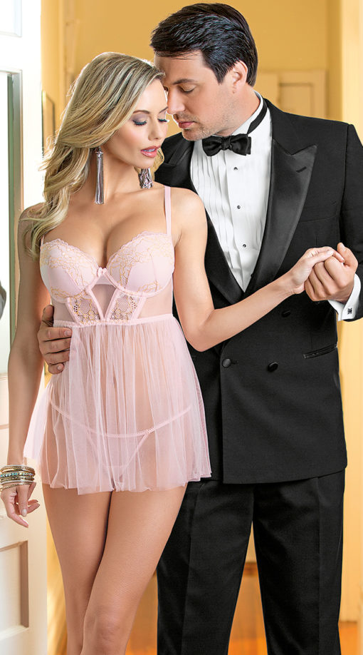 Photo of Traces of Lace Pink Babydoll @EX4.NL Exclusive Lingerie