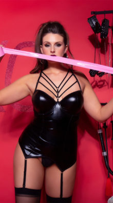 Photo of Plus Size Feline Fetish Bustier Set @EX4.NL Exclusive Lingerie