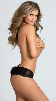 Photo of Sheer Satisfaction Pom Pom Panty @EX4.NL Exclusive Lingerie