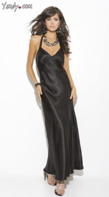 Photo of Long Satin Sleep Gown @EX4.NL Exclusive Lingerie