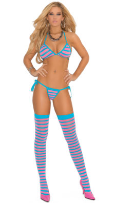 Photo of String Bra, Thong and Stocking Set @EX4.NL Exclusive Lingerie