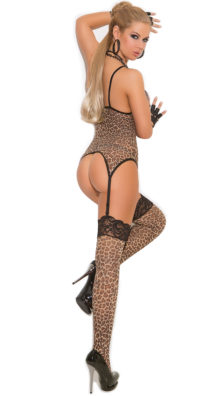 Photo of Plus Size Leopard Camisole and Stockings @EX4.NL Exclusive Lingerie