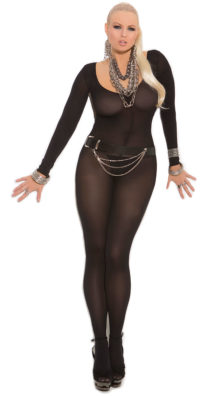 Photo of Plus Size Opaque Long Sleeve Bodystocking @EX4.NL Exclusive Lingerie