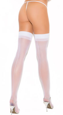 Photo of Plus Size Sheer Back Seam Stockings @EX4.NL Exclusive Lingerie