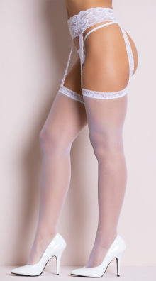 Photo of Sheer Thigh Highs with Lace Garterbelt @EX4.NL Exclusive Lingerie