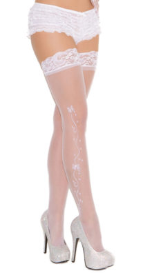 Photo of Wedding Bells Thigh Highs @EX4.NL Exclusive Lingerie