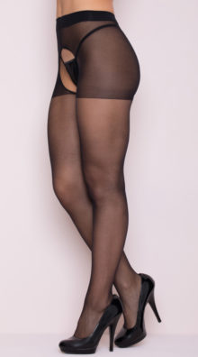 Photo of Sheer Crotchless Pantyhose @EX4.NL Exclusive Lingerie