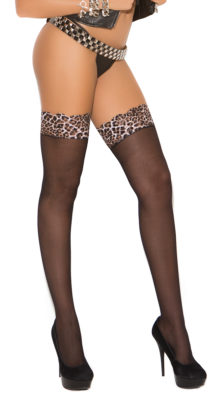 Photo of Sheer Leopard Lace Top Thigh Highs @EX4.NL Exclusive Lingerie