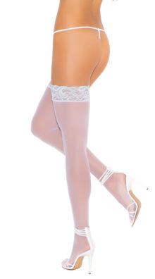 Photo of Sheer Thigh Highs with Blue Lace @EX4.NL Exclusive Lingerie