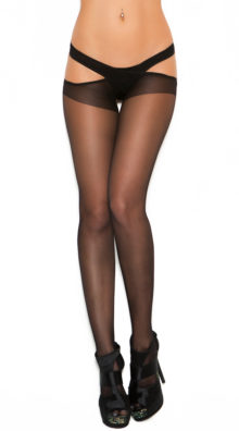 Photo of Plus Size Sheer Criss Cross Suspender Pantyhose @EX4.NL Exclusive Lingerie