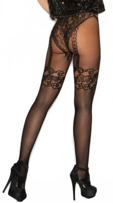Photo of Fishnet and Lace Crochet Pantyhose @EX4.NL Exclusive Lingerie