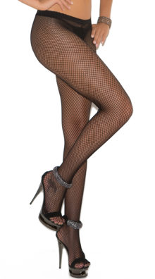 Photo of Fishnet Pantyhose with Rhinestone Seam @EX4.NL Exclusive Lingerie