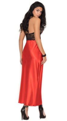 Photo of Red Charmeuse Gown @EX4.NL Exclusive Lingerie