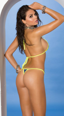 Photo of Bright Green and Blue Cut-Out Bikini @EX4.NL Exclusive Lingerie