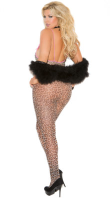 Photo of Plus Size Right Meow Leopard Bodystocking @EX4.NL Exclusive Lingerie