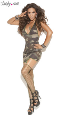 Photo of Camo Mini Dress with Garters @EX4.NL Exclusive Lingerie